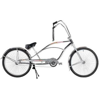 Super Glide Chrome Ape Hanger Dual Crown Bicycle