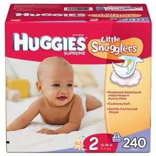 HUGGIES Little Snugglers Diapers, Size 2, Quantity 240, 80