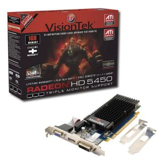 VisionTek ATI Radeon HD5450 PCI Express Graphics Card (Refurbished