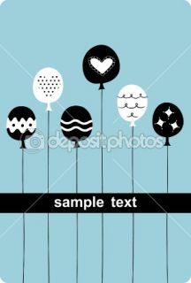 Balloon birthday card design  Stock Vector © jinru huang #2177637