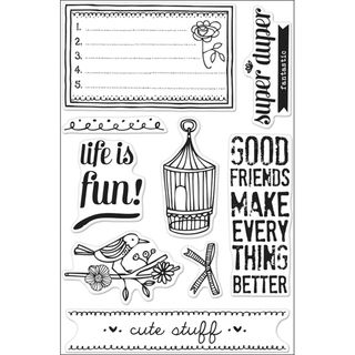 Basic Grey Paper Cottage Cling Stamps By Hero Arts Life Is Fun