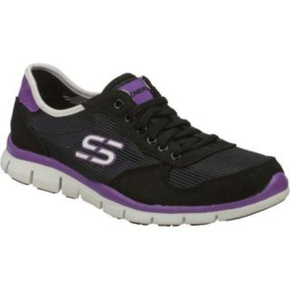 Womens Skechers Gratis Rock Party Black/Purple