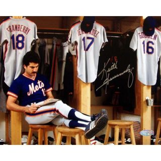 Steiner Sports Keith Hernandez Completing Crossword Puzzle in Locker