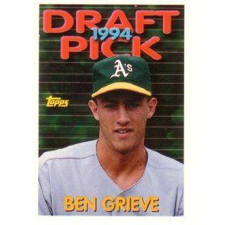 Ben Grieve Baseball Rookie Card Collectibles