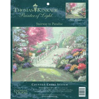 Thomas Kinkade Stairway To Paradise Counted Cross Stitch Kit 14X10
