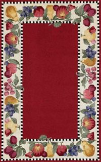 Siena Fruit Border Red Rug (410 x 710)