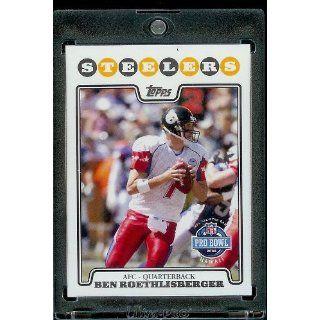 2008 Topps # 309 Ben Roethlisberger PB Pro Bowl   Pittsburgh Steelers