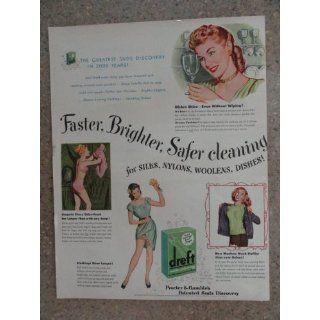 Procter & Gambles dreft, Vintage 40s full page print ad