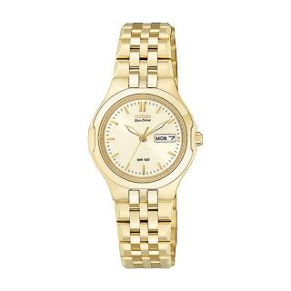 Citizen Eco Drive Womens Corso Goldtone Champagne Dial Watch