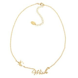 Disney Goldplated Clear Glass Wish Necklace