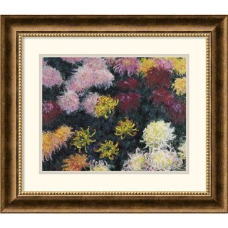 Claude Monet Chrysanthemum, 1897 Framed Art Print
