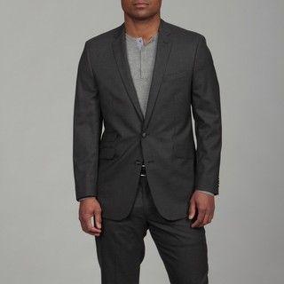 Ben Sherman Mens Slim Fit Wool Charcoal 2 button Suit