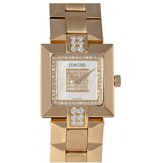 Concord Womens La Scala Yellow Gold Diamond Watch