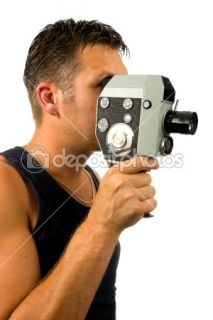 Man with old fashioned film camera  Stock Photo © Sandra van der