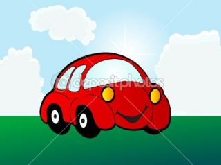 Cartoon car  Stock Vector © Sarka Pistekova #2420974