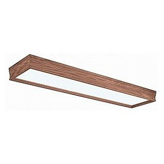 American Fluorescent CTK432R8 Traditional Wood Molding 4 Light Flush