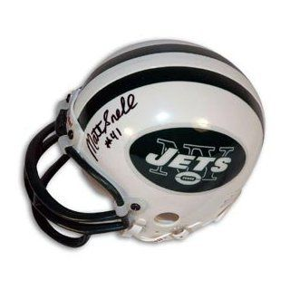 Matt Snell Signed Jets Mini Helmet Collectibles