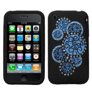 Deluxe Apple iPhone 3/ 3G/ 3GS Diamond Circle Protector Case