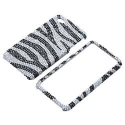 BasAcc Silver/ Black Diamond Snap on Case for Apple iPhone 4/ 4S