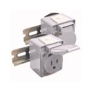 Receptacle, DIN Rail Mount, 15A/250VAC, IP54, Blue