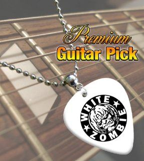 White Zombie Premium Guitar Pick Necklace Musical