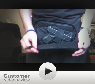 DTOM Concealed Carry Fanny Pack CORDURA NYLON Black