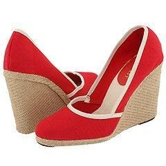 Nine West Beccari Red/Natural Fabric