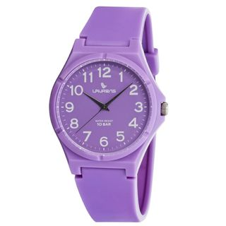 Laurens Italian Design Childrens Purple Rubber Analog Watch