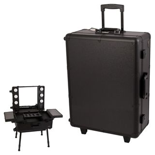 Sunrise Black Professional Rolling Studio Makeup Artist Case