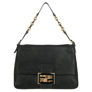 Fendi Forever Black Big Mama Shoulder Bag