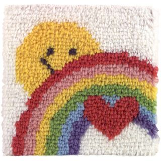 Natura Sunshine Rainbow Latch Hook Kit with Precut Rug Yarn and Canvas
