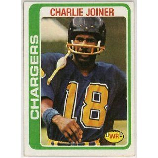 Charlie Joiner San Diego Chargers 1978 Topps Football Card