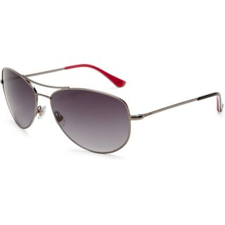 Kate Spade Womens Ally 3 Gunmetal/ Red Aviator Sunglasses