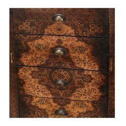 Wood Olde Worlde European 4 drawer Credenza (China)
