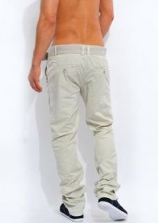 Eight2Nine by Sublevel Herren Chino Hose mit Gürtel, SALE, beige