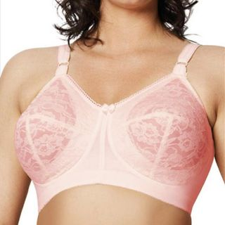 Goddess Womens All over Lace Petal Pink Soft Cup Bra