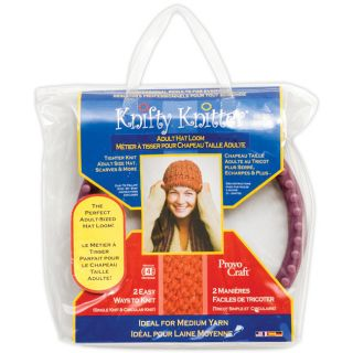 Provo Craft Knifty Knitter Purple Adult Hat Loom Set