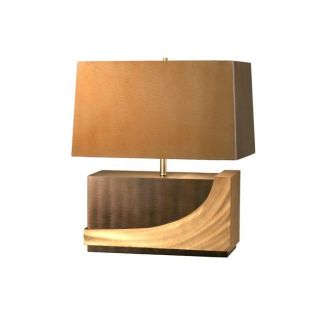 Jon Gilmore Designs Silver/ Root Beer Wave Table Lamp