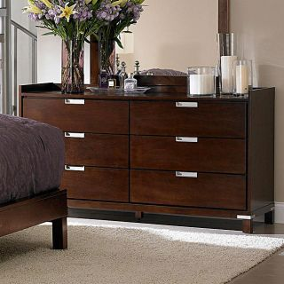 Noho 6 drawer Warm Cherry Gallery Dresser