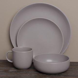 Royal Doulton Mode Grey Porcelain 4 piece Place Setting