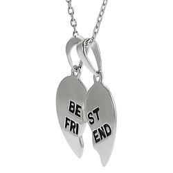 Tressa Sterling Silver Best Friend Heart Necklace