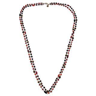 Ralph Lauren 2 row Rosary Link Beads Necklace