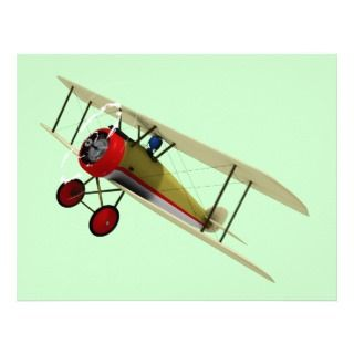 Sopwith Camel and Pilot Letterhead Template