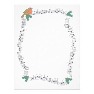 Song Bird Notes Scrapbooking P Customized Letterhead