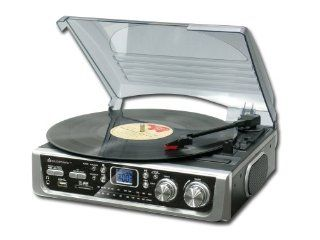 Soundmaster PL 520 Plattenspieler mt USB/Card Slot und Radio