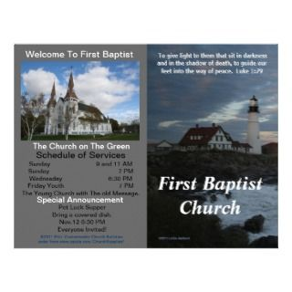 Customizable Weekly Church Bulletin (Outside Only) Letterhead Template