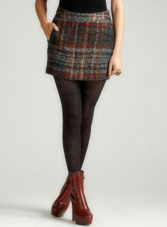 Walter Morgan Plaid Skirt