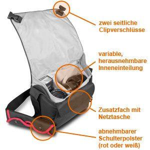 Mantona Cool Bag SLR Kameratasche , schwarz/rot Kamera