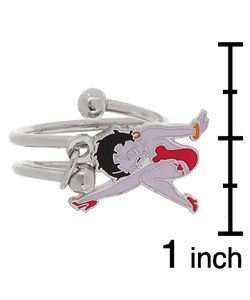 Betty Boop Sterling Silver Wrap Around Ring (Size 7)