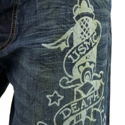 Ed Hardy Mens Death Before Dishonor Jeans